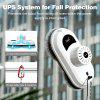 Finether Multi-Surface Window Cleaning Robot, Robotic Window Cleaner with UPS System, Fall Protection, Safety Rope & Carabiner, Remote Control, for Interior Exterior Windows Walls Doors Desks, White - WHITE