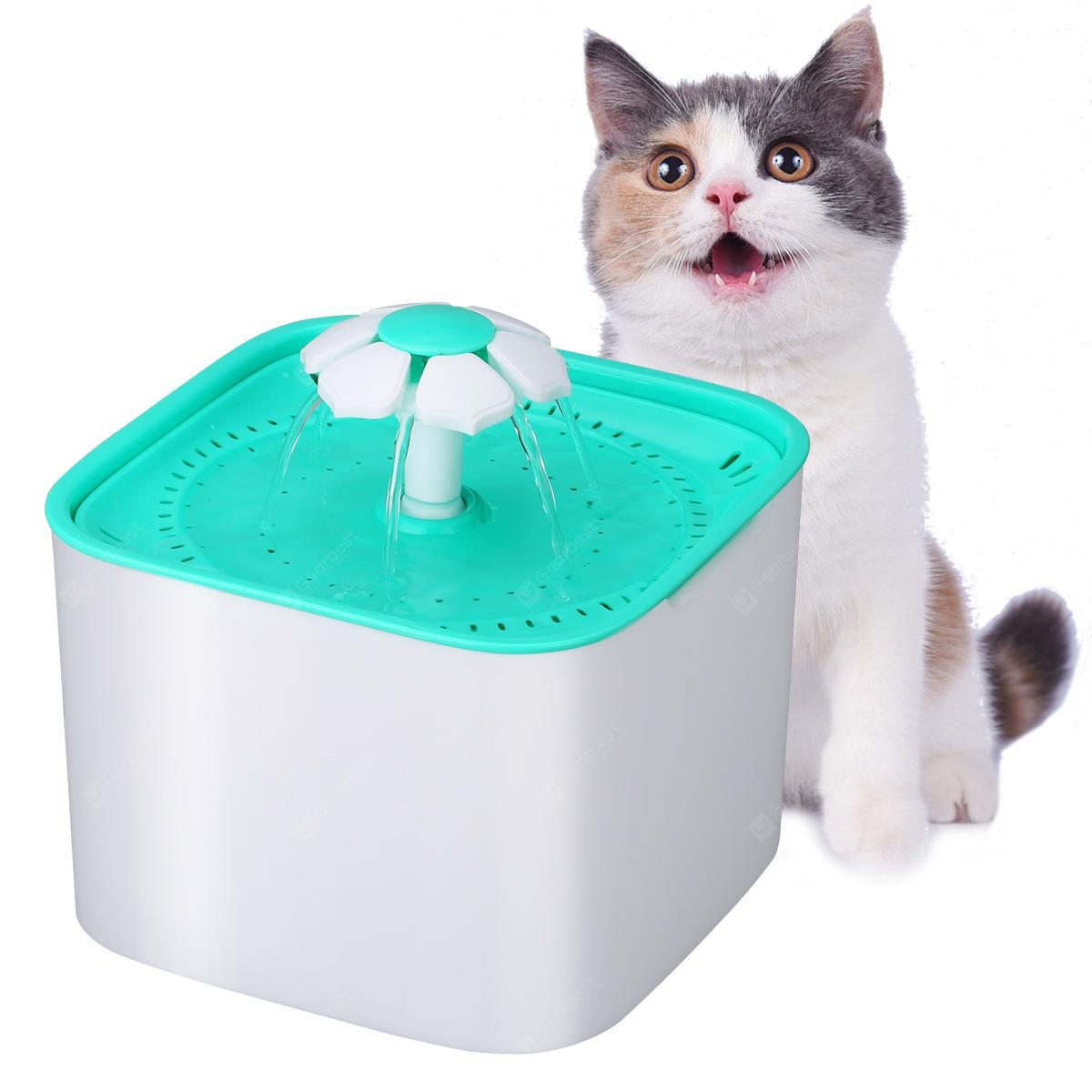 automatic pet drinking fountain - ALGAE GREEN