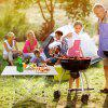Enkeeo Aluminum Camping Table Silver M - SILVER