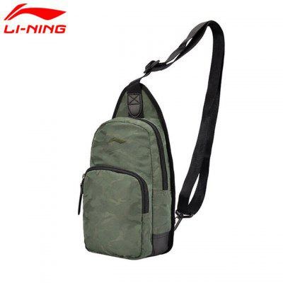 Li-Ning Mens Urban Chest Package Polyester City Jogging Sports Bags ABDM003 li ning brand new arrival imagination series women s mid top walking sports shoes sport sneakers for female ahck006 xwc402