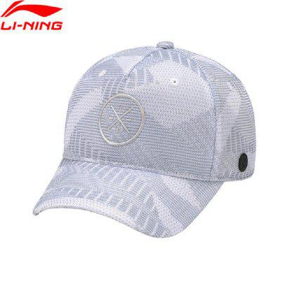 Li-Ning Men Wade Lifestyle Baseball Cap 100% Polyester LiNing Comfortable Adjustable Sports Caps Hats AMYN057 wareball new hot fashion brand cotton mens hat letter bat unisex women men hats baseball cap snapback casual caps