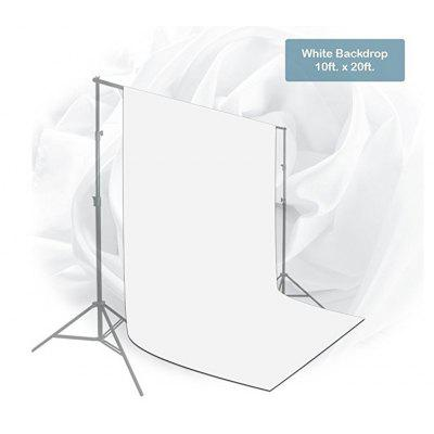 Craphhy 3*3meters Photo Studio 100 Percent Pure Collapsible Backdrop Background for Photography, Video and Television (Background Only) - White huayi 10x20ft wood letter wall backdrop wood floor vinyl wedding photography backdrops photo props background woods xt 6396