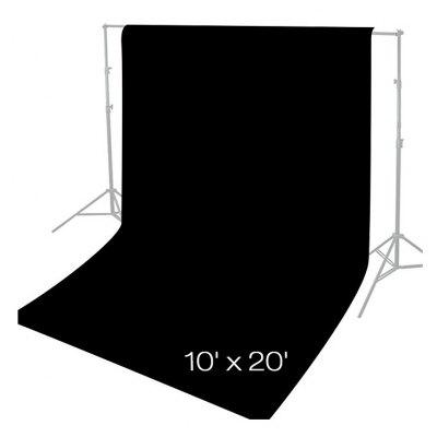 Craphhy 3*3meters Photo Studio 100 Percent Pure Collapsible Backdrop Background for Photography, Video and Television (Background Only) - Black