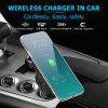Fast Wireless Car Charger Stand 5W Car Mount Phone Holder for iPhone X/8/8 Plus/Samsung Galaxy S8/S8+/S7/S6 Edge+/Note 5/LG and other QI Enabled Phones - BLACK