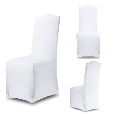 100pcs SPANDEX LYCRA CHAIR COVER WHITE BLACK IVORY COVERS BANQUET WEDDING PARTY 一百件