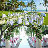 50pcs SPANDEX LYCRA CHAIR COVER WHITE BLACK IVORY COVERS BANQUET WEDDING PARTY 五十件 - WHITE