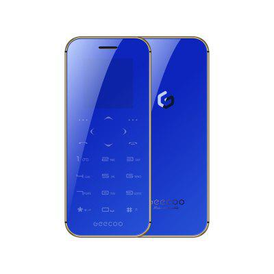 GEECOO MINI1 1.54'' 400mAh Dual SIM BT Calling BT Anti-lost Fashion Touch-Button Mini Card Phone