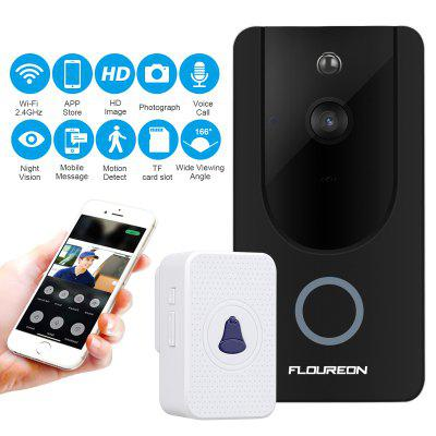 FLOUREON WiFi Wireless Smart Video Doorbell