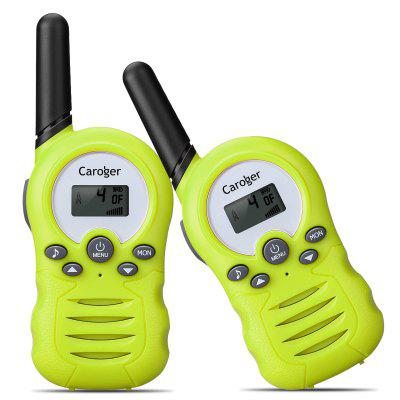 Caroger CR388A License-Free 8 Channel (2packs) Walkie Talkies PMR446MHZ Two Way Radio Up to 3300 Meters/2 Miles Range Handheld Interphone Green