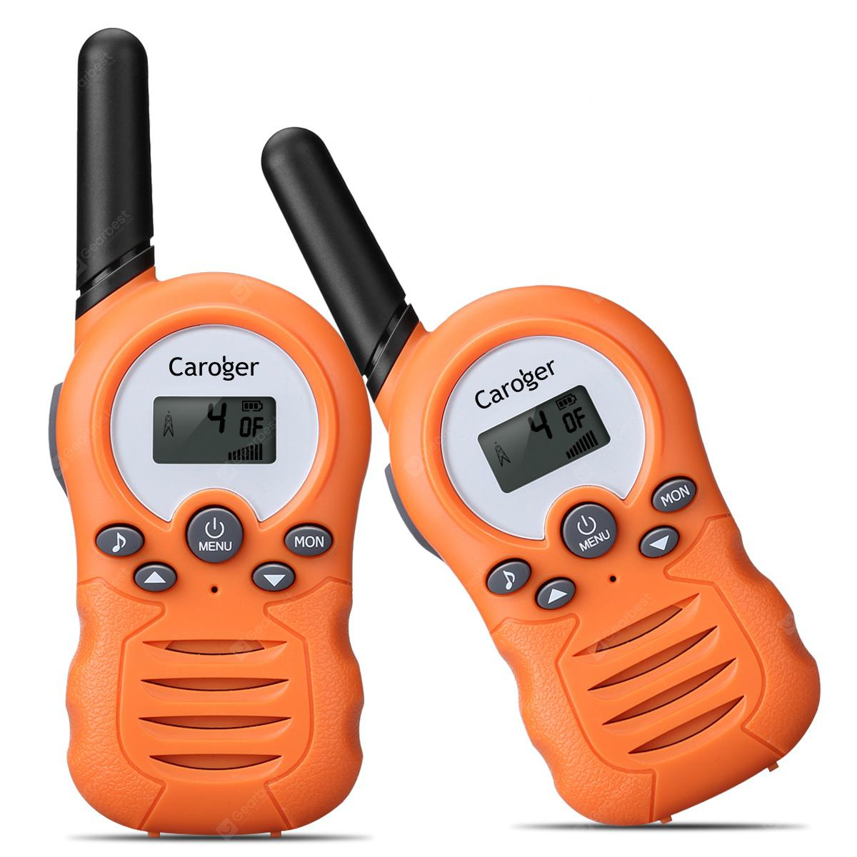 Caroger CR388A Lisensfrie Walkie Talkie 22packs 2 Kanal FRS / GMRS 462 / 467MHZ Two Way Radio Opptil Meters 3300 / 2 Miles Range Håndholdt Interphone Orange - ORANGE PAPAYA
