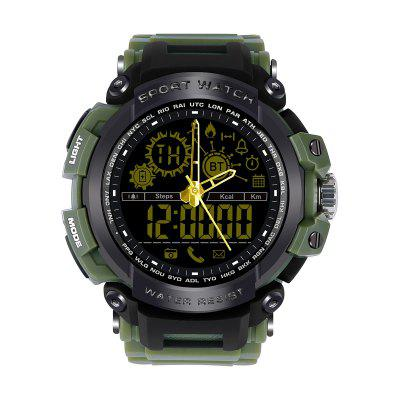 Diggro DI10 Smart Watch Outdoor Sport IP68 Waterproof 5ATM Luminous Dial Pedometer Message Reminder 12 Months Long Standby Time With Clock Pointerfor Android IOS