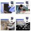"""600X 4.3"""" LCD Display 3.6MP Electronic Digital Video Microscope Portable LED Magnifier for Mobile Phone Maintenance QC/Industrial/Collection Inspection with Metal Stand Built-in Rechargeable Lithium Battery - BLACK"""