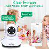 FLOUREON 1080P 2.0MP 1920*1080 Indoor IPC WIFI H.264 Wireless PT IR-CUT TF Micro SD Card Slot Nanny Baby Monitor IP Camera AU - WHITE