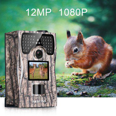 PRIKIM 1080P Hunting Camera 12MP Trail Camera Night Vision 1080P Hunting Camera 120 Degree Wide Angle Game Camera LCD Wildlife Camera Waterproof and Dustproof with Remote Control