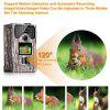 PRIKIM 1080P Hunting Camera 12MP Trail Camera Night Vision 1080P Hunting Camera 120 Degree Wide Angle Game Camera LCD Wildlife Camera Waterproof and Dustproof with Remote Control - WOODLAND CAMOUFLAGE