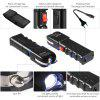 Rechargeable LED Flashlight Heavy Duty Stun Gear Self Defensive Flashlight - BLACK