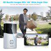 FLOUREON WIFI Video Doorbell, Smart Doorbell 720P HD Security Camera With micro SD slot, Real-Time Two-Way Talk and Video, Night Vision, PIR Motion Detection and App Control for IOS and Android - SILVER