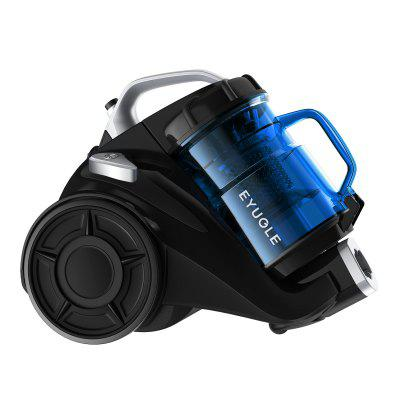 Eyugle VC-1409 Bagless Canister Vacuum Cleaner Upright Lightweight Corded 15Kpa Suction Vacuum HEPA Filter for Pet Fur Hard Floor Carpet