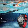 Diggro DI08 GPS Smart Watch Outdoor Fitness Tracker 30meter IP68 Waterproof Backlight Multiple Sport Modes Heart Rate Monitor for Android IOS - NOIR ROUGE