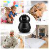 FLOUREON 1080P HD H.264 Wifi 2.0 Megapixel Wireless CCTV Security IP Camera SD Slot UK - BLACK
