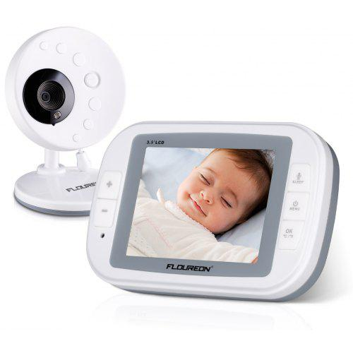 620a620d8f20 FLOUREON 3.5 Inch Digital Wireless 2.4 GHz Kids Baby Monitor LCD Video  Nanny Security Camera Temperature