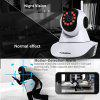 FLOUREON 720P Wifi 1.0 Megapixel Wireless  CCTV Security IP Camera EU - BLACK WHITE