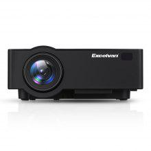 Excelvan E09 ( E08S ) 1080P 4K Home Theatre Projector - BLACK