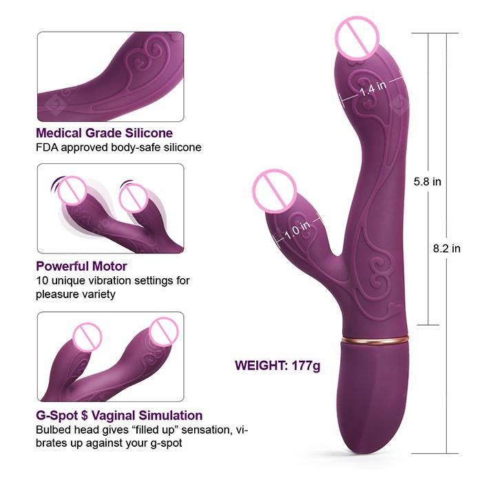 Luvkis Rabbit Vibrator for Vagina/G Spot Stimulator/Clit/Anal Play | Gearbest
