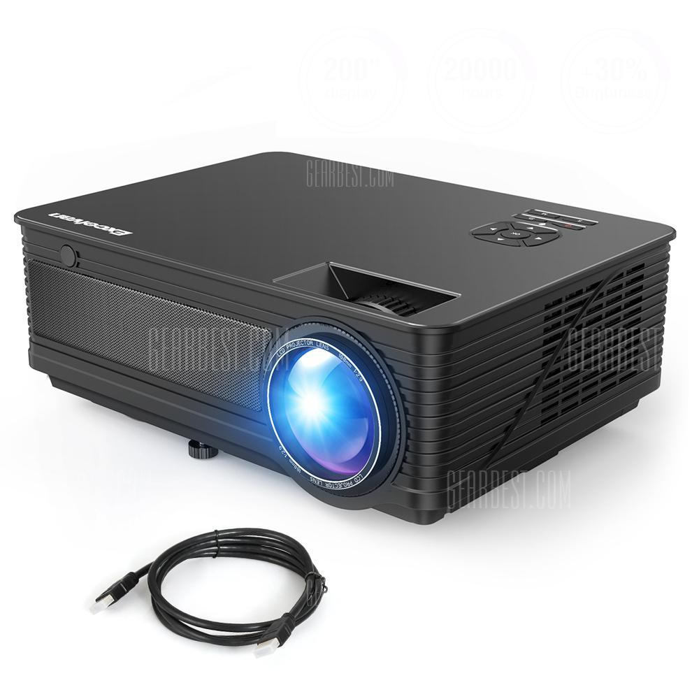 Excelvan M5 1080P Full HD Projector - BLACK EU PLUG