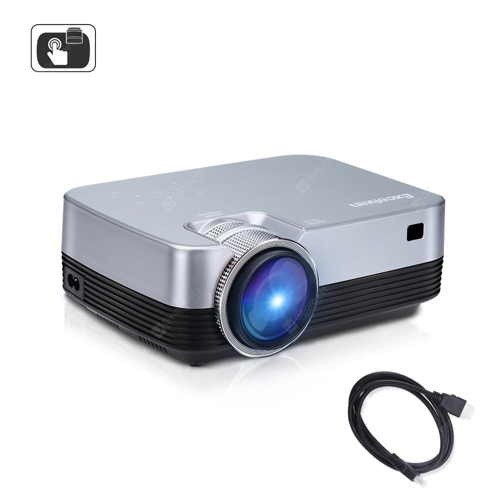 Excelvan Q6 Upgraded 1800 Lumens Projector - Silver EU Plug