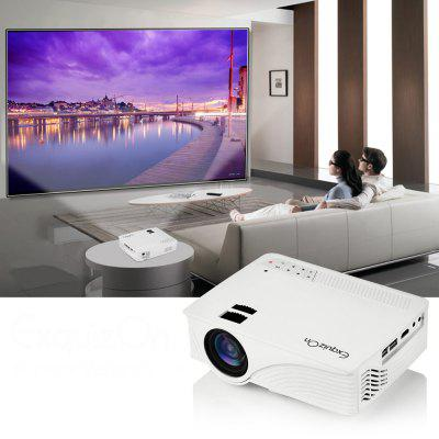 Exquizon LED GP12 Przenośny projektor 800 * 480P Obsługa 1080P HDMI USB SD AV Connect