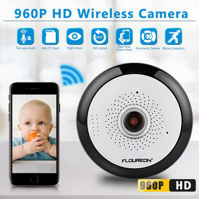 960P HD 360 Degree Wireless Wifi VR IP Camera Full View Fish Eye Panoramic Indoor Security CCTV Camera Support Phone APP Remote Control US
