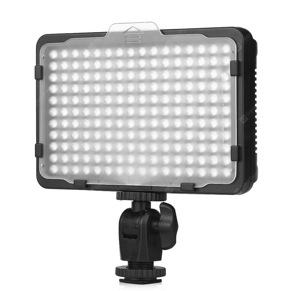 Craphy PT - 176S Ultra Compact LED Video Light Dimmable Panel with Two Color Filters On-camera Light Pad for Canon Nikon Pentax JVC DSLR DV Camcorder - MULTI