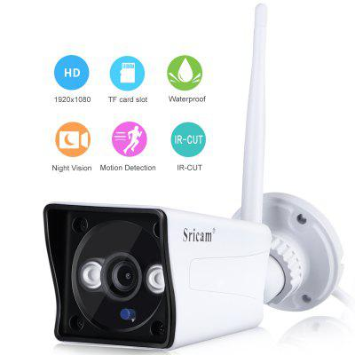 Sricam IP Camera 1080P H.264 Wifi Megapixel Wireless CCTV Security Telecamera IP TF Slot EU Bianco