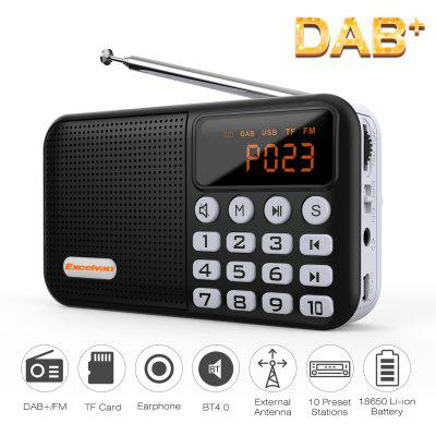 Excelvan Digital Radio Portable DAB/DAB+/FM Built-In Battery Charger play up to 20hours