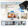 FLOUREON 1 X 8CH 1080N AHD DVR + 4 X Outdoor 1500TVL 720P Camera Security Kit UK - BLACK