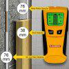 FLOUREON TH-210 Stud Center Finder Metal AC Live Wire Detector - YELLOW