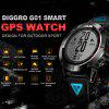 Diggro G01 GPS Smart Watch 1.05 inch Bluetooth 4.0 IP68 Waterproof Call / Message Reminder Heart Rate Monitor Sleep Monitoring Functions IP68 for Outdoor Sport - BLUE