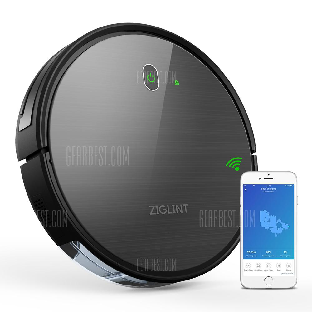 Ziglint D5 Navigation Gyroscope Robotic Vacuum Cleaner - DARK GREY EU
