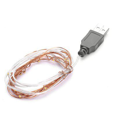 Excelvan 2m 20 LEDs USB Copper String Light