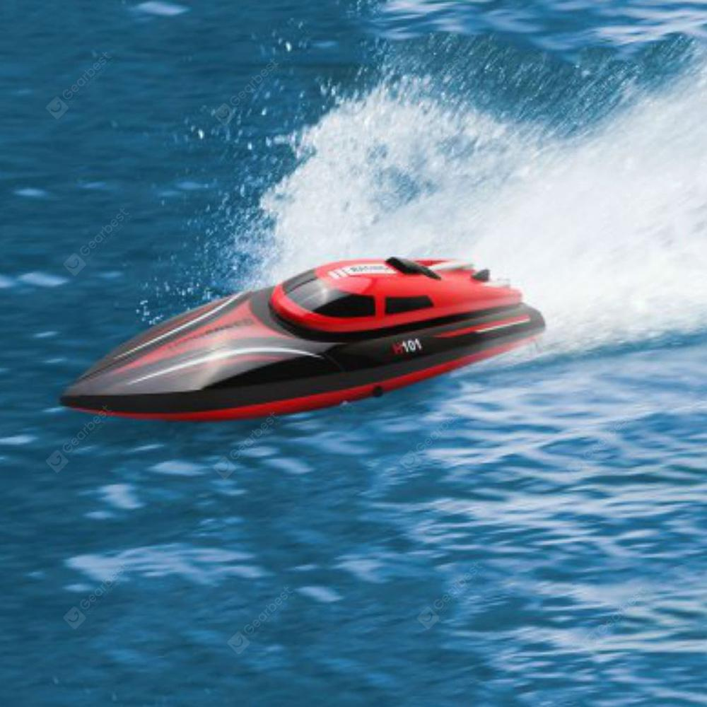 Virhuck H101 Rc Boat 2.4G 4CH Remote Control Boat With High Speed(Only Work In The Water) - Red
