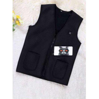 Excelvan 5V USB Battery Warm Heated Vest for Male Female