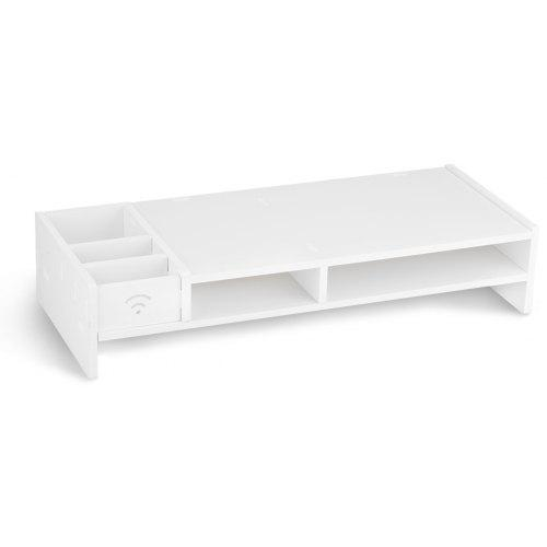 Finether Wood Plastic Composite Computer Monitor Stand Desktop