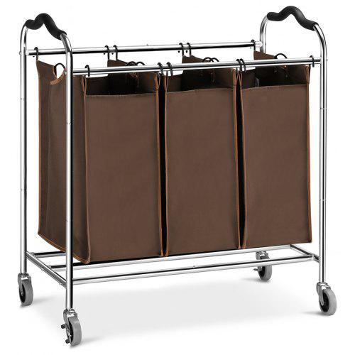 LANGRIA Heavy Duty Laundry Hamper Stand Rolling Laundry Sorter Cart