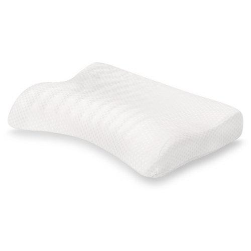 LANGRIA Contoured Egg Crate Memory Foam Pillow WHITE