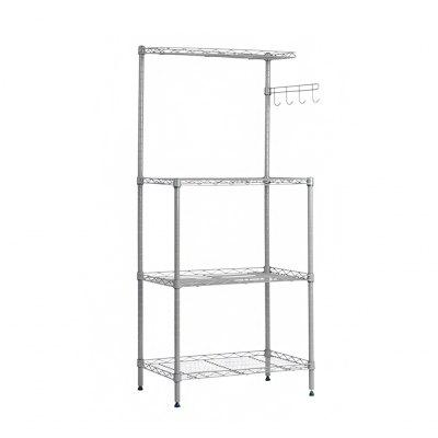 LANGRIA 3-tier Microwave Shelving Unit with Top Shelf
