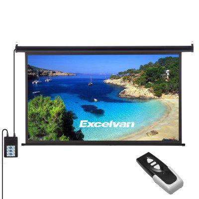 Excelvan 100-inch 16:9 1.2 Gain Wall Ceiling Electric Motorized HD Projector Screen with Remote Control