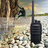 Floureon A5 Rechargeable 16 Channel Walkie Talkie 400 - 480MHz Two Way Radio Handheld Transceiver - MIDNIGHT BLACK