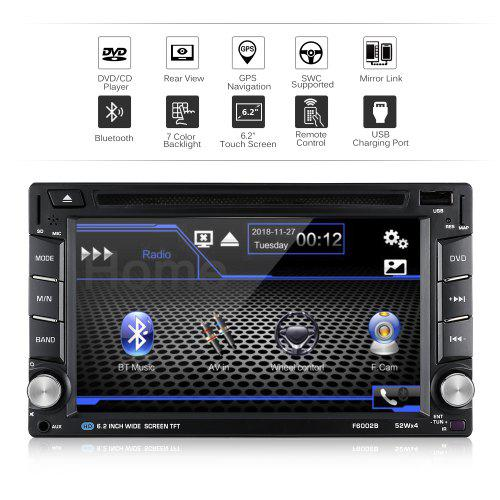 Excelvan YT-F6002B 6.2 inch Universal GPS Navigation Car Media Player