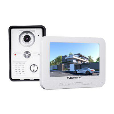 FLOUREON 7 inch UK Wired TFT LCD Video Door Phone Security Intercom Doorbell IR CCTV Camera Monitor